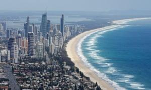 Aerial view of Surfers Paradise, Australia