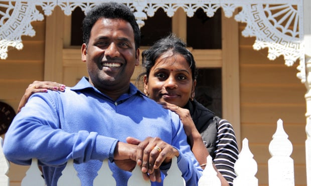 Para Paheer and his wife Jayantha