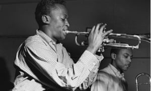 Miles Davis and JJ Johnson record in studio