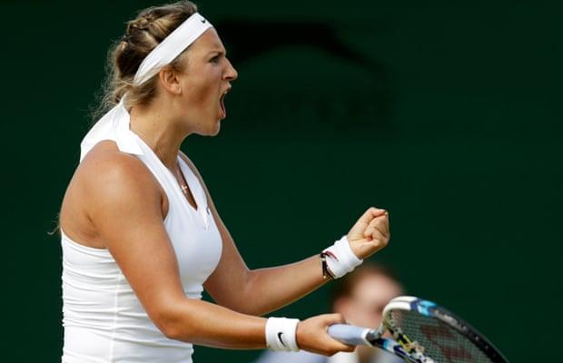 Victoria Azarenka beats Belinda Bencic to set up a quarter-final with Serena Williams.