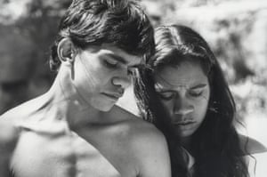 Terry Roberts and Joelene King in the video for David Bowie's video for Let's Dance, filmed in Australia.