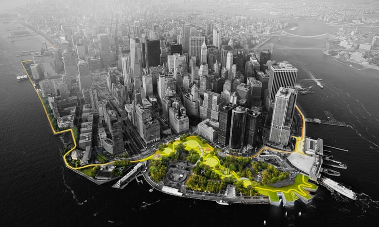 The BIG U proposal was designed to protect Lower Manhattan from the impacts of a changing climate. Photograph: Rebuild by Design