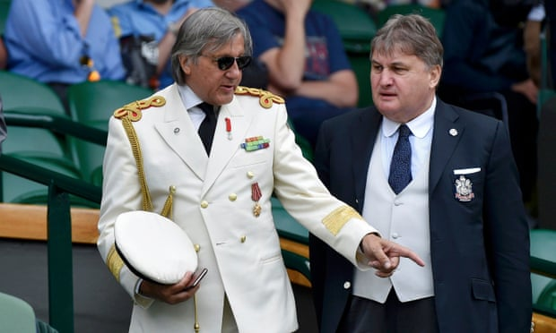 Ilie Nastase in the royal box on Centre Court - the military look is back? I didn't know that.