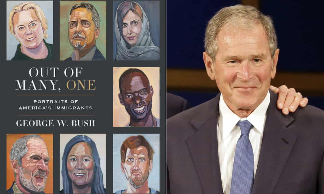 George W Bush will go on tour to promote his new book. Photograph: AP
