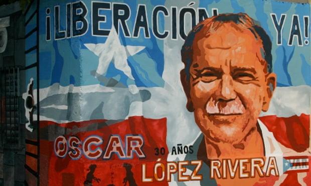 A mural dedicated to Oscar López Rivera in Puerto Rico. Photograph: Public domain