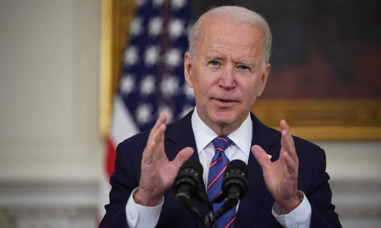 Joe Biden has made the climate emergency one of his administration's top priorities. Photograph: Mandel Ngan/AFP/Getty Images