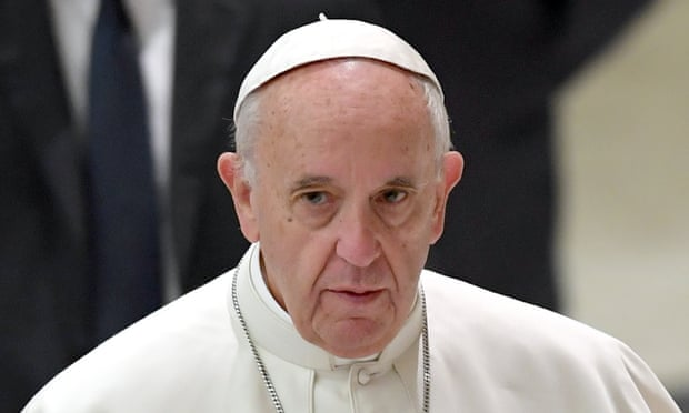 Pope Francis said spreading disinformation was 'probably the greatest damage that the media can do'. Photograph: Antonelli/AGF/Rex/Shutterstock
