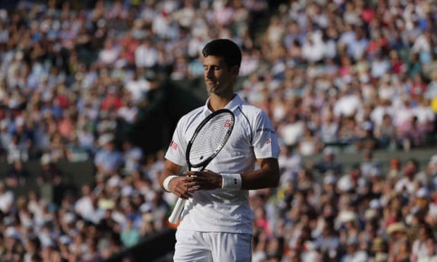 Djokovic loses the first set with seven unforced errors.