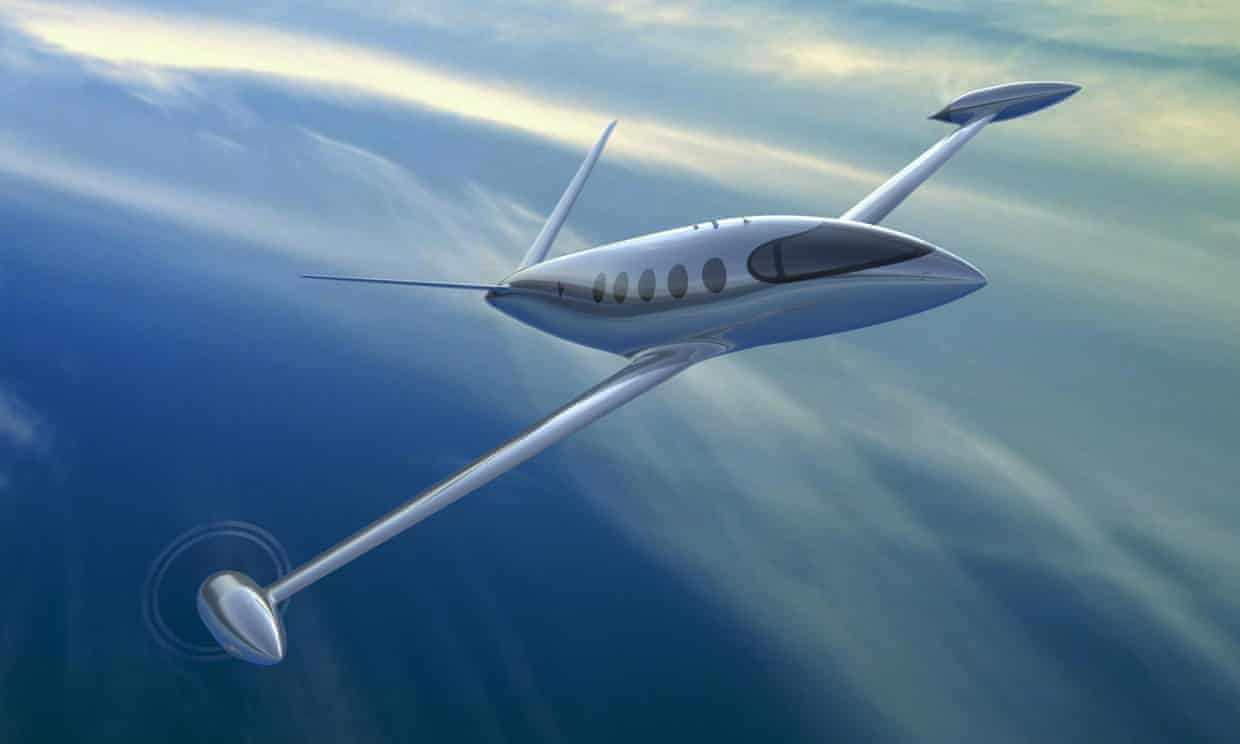 Eviation's nine-seater Alice plane, made with MagniX engines. MagniX will focus on powering flights of under 900 miles, which accounted for about 45% of trips in 2018. Photograph: Eviation Alice