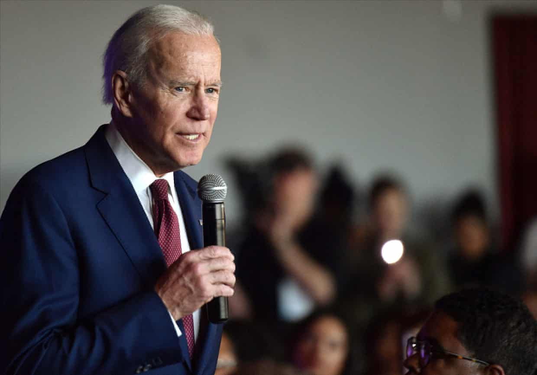 Democratic presidential candidate and former vice-president Joe Biden speaks at the Nevada Black Legislative Caucus Black History Brunch in Las Vegas, on 16 February. Photograph: David Becker/Reuters