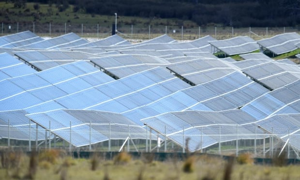 The FRV Royalla solar farm near Canberra is currently Australia's largest at 20mW. The farm is expected to generate an average 37,000 MWh of renewable energy each year for the next 20 years and will meet the needs of 4,500 Canberra households.