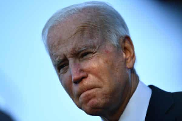 Failure by Joe Biden may damage faith in his country's ability to turn climate rhetoric into action. Photograph: Brendan Smialowski/AFP/Getty Images