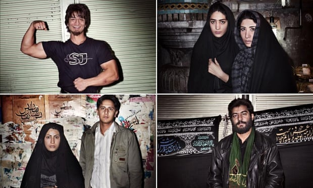 A series of street portraits taken in the holy city of Qom, Iran, by Magnum photographer Paolo Pellegrin