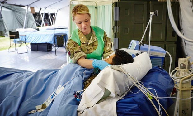 How Training to Fight an Epidemic Abroad Helps Here at Home: The army reservists in the MOSG provide medical expertise, humanitarian relief, clinical mentoring and environmental health expertise. Photograph: Jonny Thompson