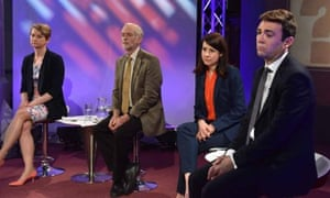The Labour leadership candidates at the BBC debate.