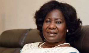 Mariam Sankara, widow of Thomas Sankara, known as the father of the revolution in Burkina Faso.