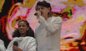 Birhan Woldu with Sir Bob Geldof