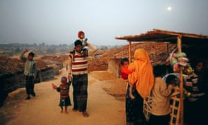 Rohingya fleeing persecution in Myanmar at a makeshift camp, in Cox's Bazar, Bangladesh, 10 February