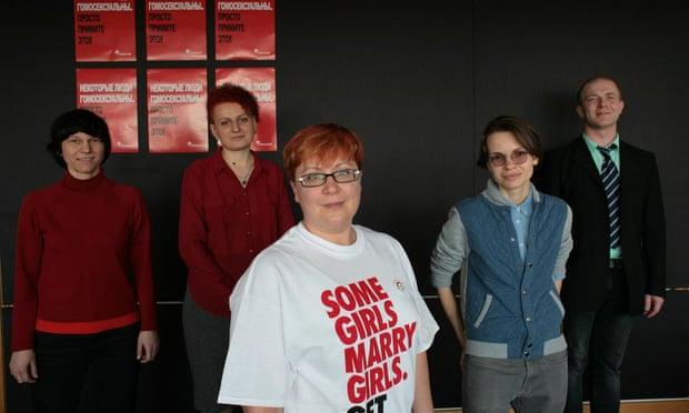 From left to right, Anna Annenkova, Olesya Yakovenko, Tatiana Vinnichenko, Nika Yuryeva and Sergei Alekseenko.