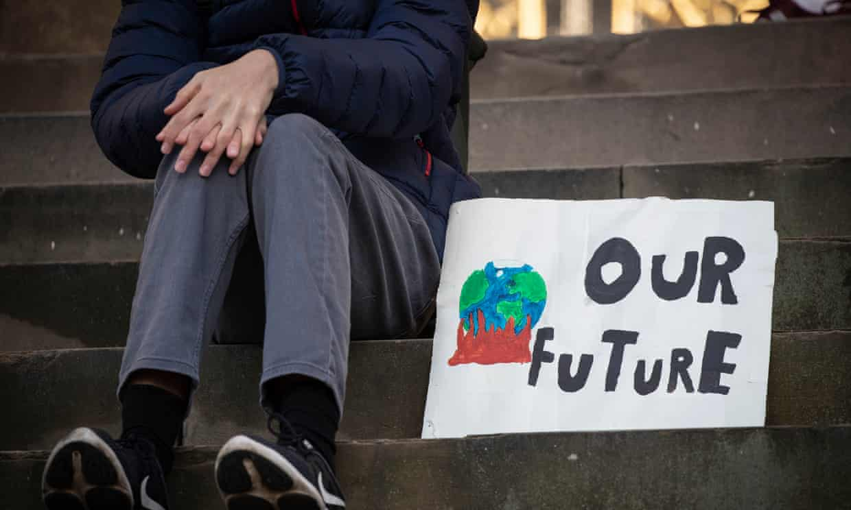 All parties except the Conservatives, have expressed support for the thousands of young people striking for climate action Photograph: Danny Lawson/PA