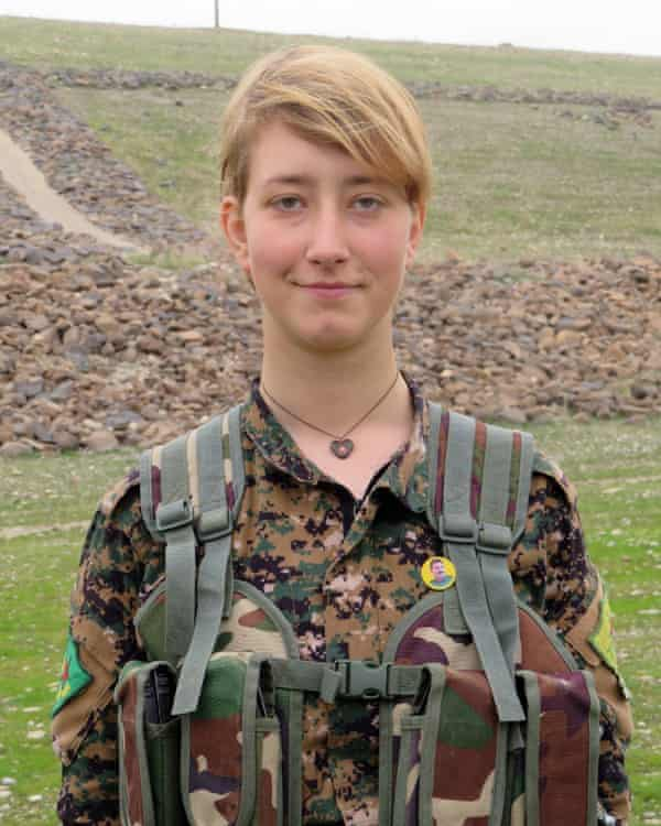 Anna Campbell, a British national who was killed alongside YPJ forces in Afrin. Photograph: Handout