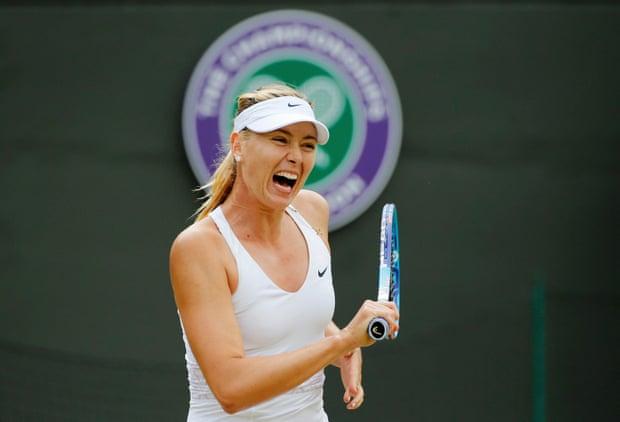 Maria Sharapova returns.