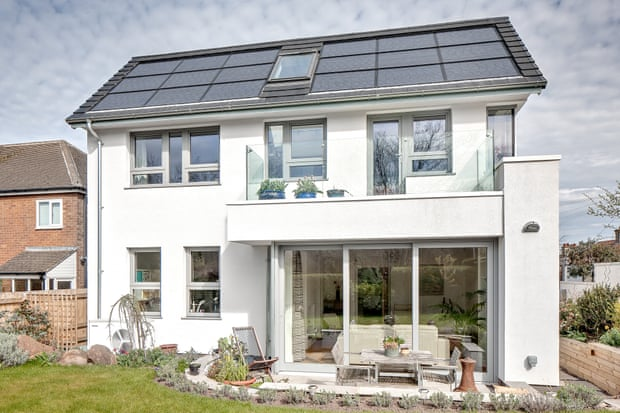 Colin and Jenny Usher's eco-home, built from scratch for £240,000. Photograph: Colin Usher