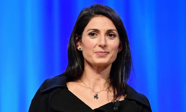 Virginia Raggi is running for re-election as Rome's mayor next year. Photograph: Maria Laura Antonelli/AGF/Rex/Shutterstock
