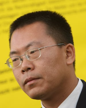 Since arriving in the US Teng Biao has remained active on Twitter and kept in touch with a global network of human rights lawyers, officials, politicians and campaigners. Photograph: Sean Gallup/Getty Images
