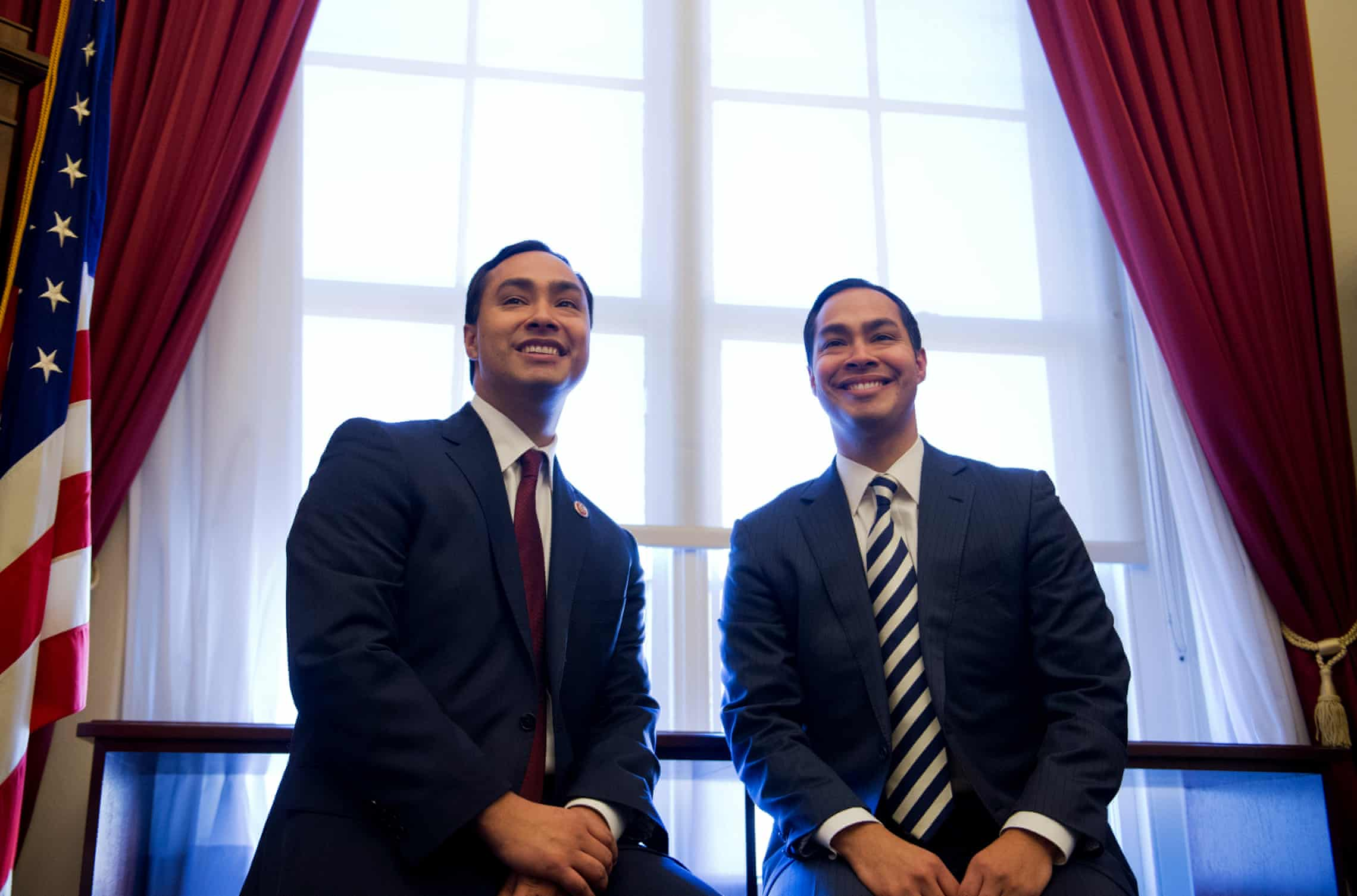 Joaquin, left, with his brother Julián, on the day the 113th Congress was sworn in. Photograph: Tom Williams/CQ-Roll Call
