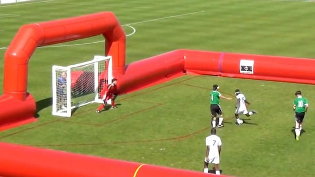 Visually impaired footballer scores amazing goal during French match – video