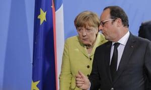 Angela Merkel and François Hollande in Berlin, June 01 2015.