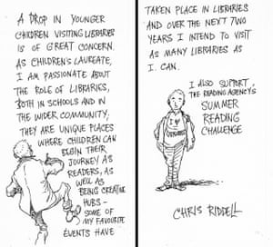 Chris Riddell's illustrated message in response to the government's report
