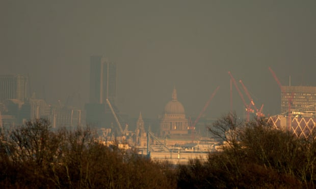 Air pollution in London on 21 January 2016. Photograph: Gill Allen/REX/Shutterstock