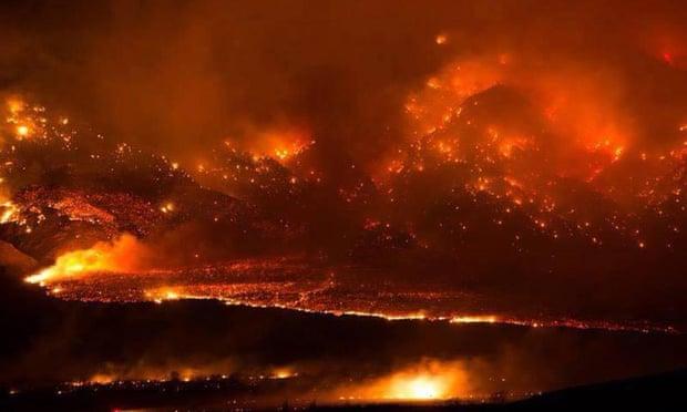 California battles fires