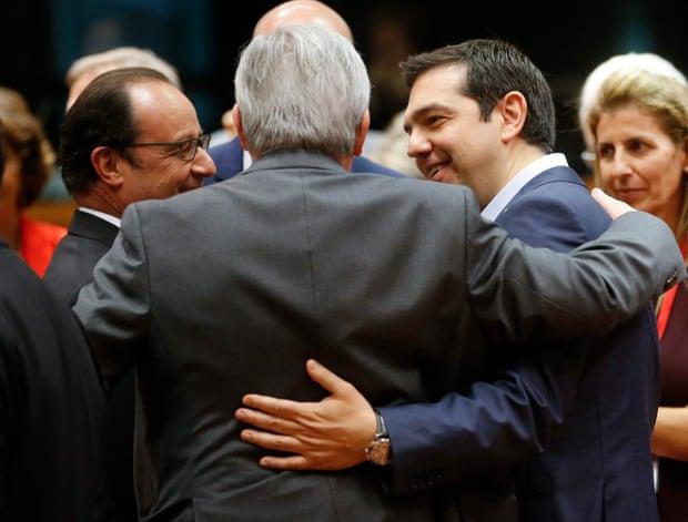 Ж. Юнкер и А Ципрас днес