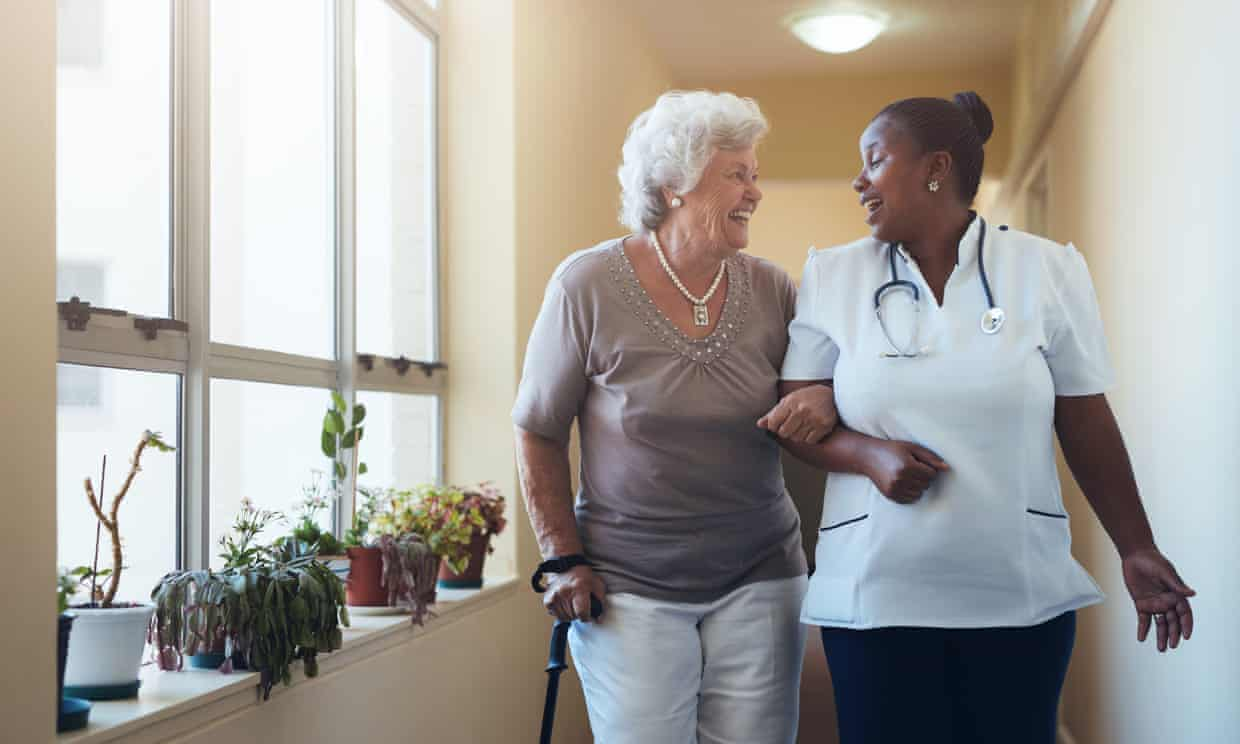 In the US, nine out of 10 home care workers are women and 25% are African American. Photograph: jacoblund/Getty Images/iStockphoto