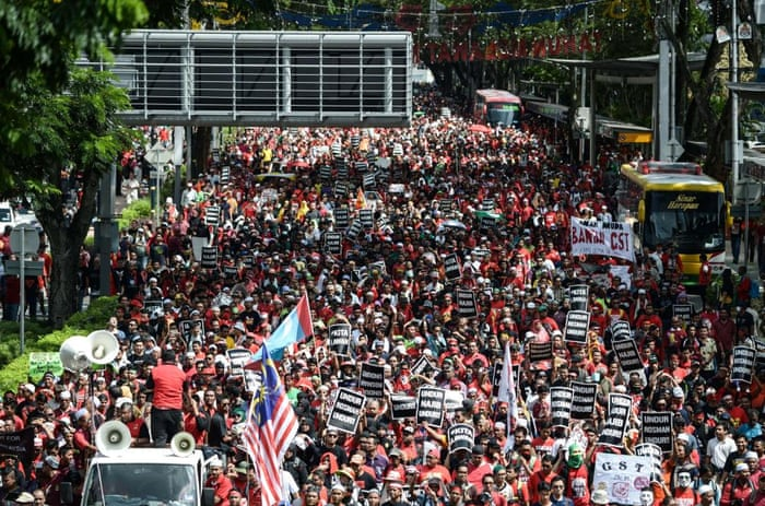 May Day protest Kuala Lumpur Petronas Towers