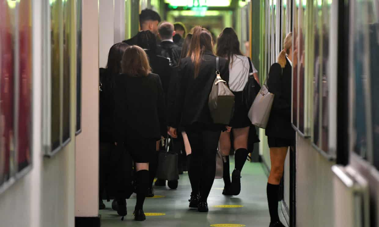 Over a tenth of children in secondary schools in England have long Covid symptoms. Photograph: Anthony Devlin/Getty Images