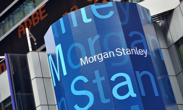 On Thursday, Morgan Stanley stock was down almost 40% over the last three months. Photograph: Stan Honda/AFP/Getty Images