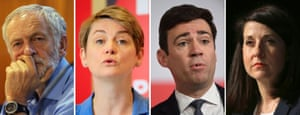 The Labour leadership contenders: Jeremy Corbyn, Yvette Cooper, Andy Burnham and Liz Kendall.