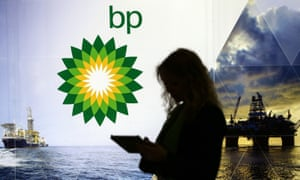 21st World Petroleum Congress continues in Moscow<br>A visitor seen near a stand of BP at an exhibition held as part of the 21st World Petroleum Congress at Crocus Expo international exhibition centre, Moscow, Russia, 17 June 2014.