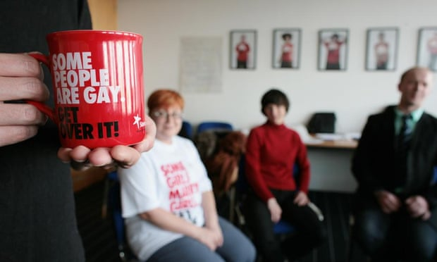 Russian activists take part in a workshop at Stonewall's London offices