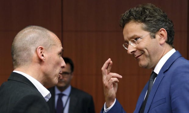 Jeroen Dijsselbloem and Yanis Varoufakis