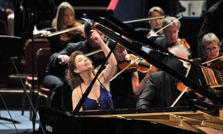 Angela Hewitt performing on piano