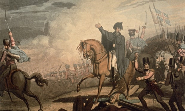 News travels slow … T Fielding's engraving of the Duke of Wellington at Waterloo. Photograph: Hulton Getty