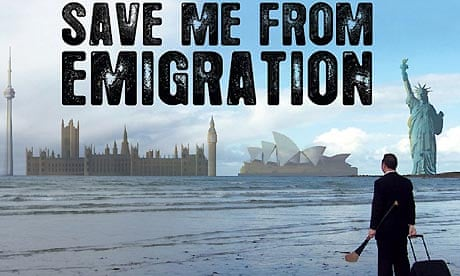 Save me from emigration billboard