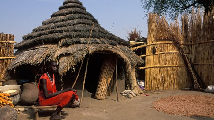 MDG : A traditional homestead in Gambella, the remote region of western Ethiopia