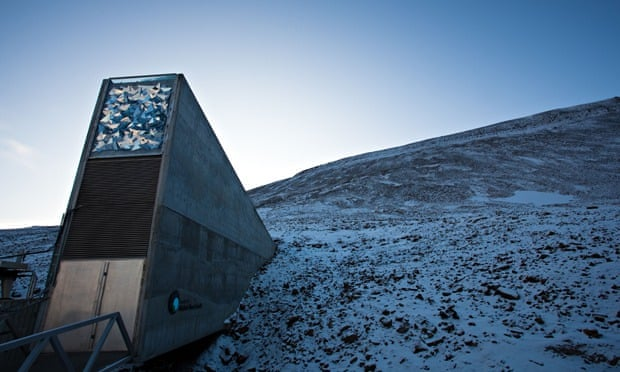 The entrance of Svalbard Global Seed Vault a repository for seeds, Norway