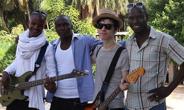 Songhoy Blues and Nick Zinner of Yeah Yeah Yeahs